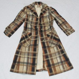 Vintage 1950's 1960's Peck and Peck Tartan Jacket